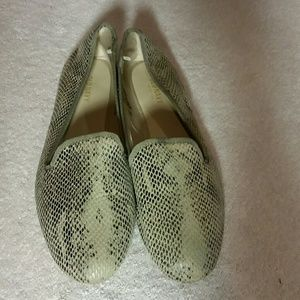 Old Navy snake print loafers